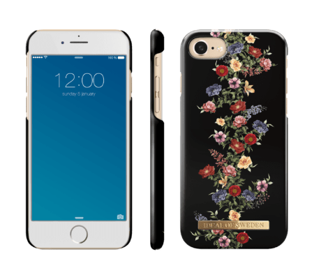 IDEAL FASHION CASE IPHONE 6/6S/7/8 DARK FLORAL