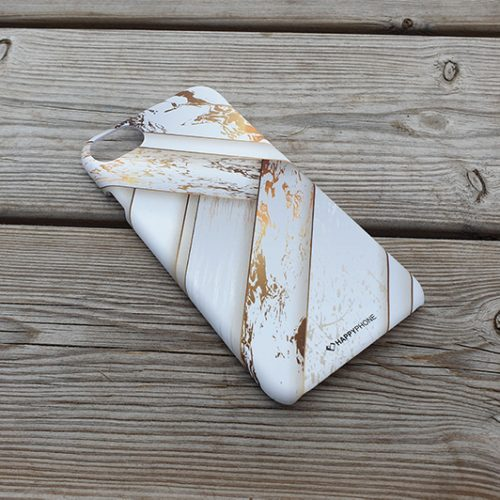 HAPPYPHONE CASE IPHONE 6/6S/7/8 RUSTIC WHITE GOLD